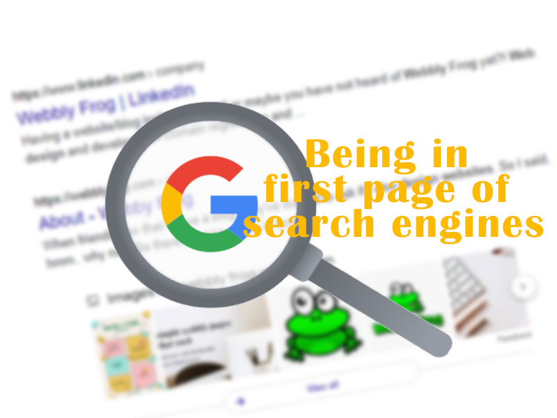 first page in search engines